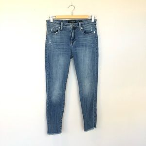Lucky Brand Ava Skinny Raw Hem Ankle Jeans Size 6